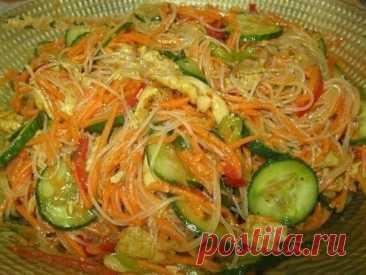 Любимый всеми пикантный салат с фунчозой – божественно!