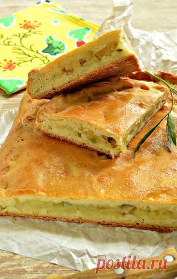 Картофельный пирог с грибами (тесто на кефире) рецепт с фото пошагово