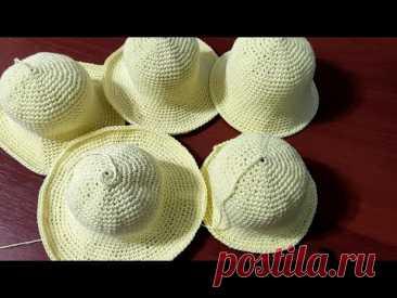 Как связать поля шляпы крючком.  Варианты вязания  полей у шляп.