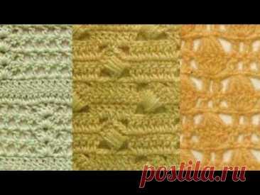 Узоры крючком - Crochet Pattern - YouTube