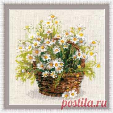 Русские ромашки (арт.1478 Риолис) купить в Stitch и Крестик