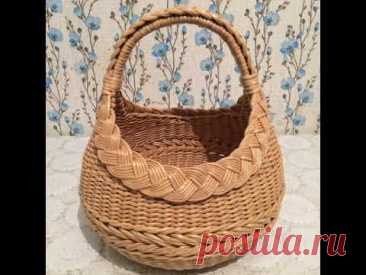 Basket from paper tubules