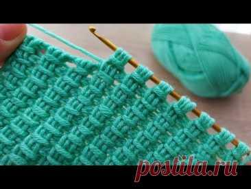 Super Easy Tunisian Knitting Model Çok Kolay Çok Gösterişli Tunus İşi  Örgü Modeli Yapımı