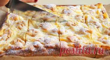 В тарелке: И торта не надо. С яблоками и кремом этот пирог просто бесподобен: простой и быстрый