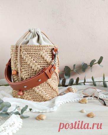 Летние вязаные сумки-вёдра 2021. Часть 2 про etsy. | Вязаная мода: подиум и жизнь | Яндекс Дзен
