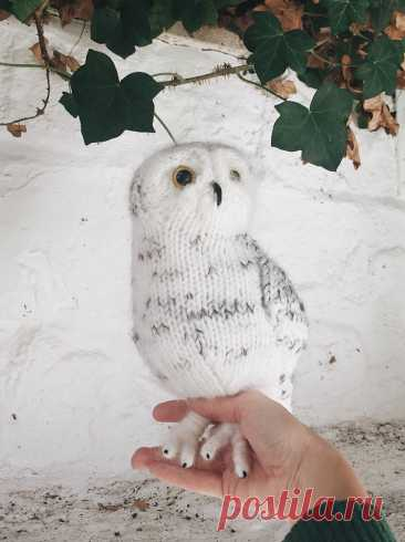 Вязаная спицами Сова Snowy Owl - Вяжи.ру