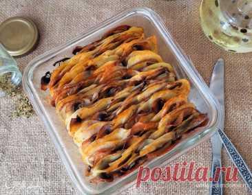 Как приготовить Картофель, запеченный с грибами и специями Пошаговый рецепт с ингредиентами и фото