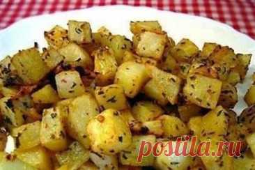 Картофель с чесноком по-гречески в духовке, рецепт с фото   Вкусные кулинарные рецепты