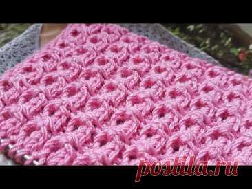 Вяжем рельефный стрейчевый узор 🌺 knitting pattern.