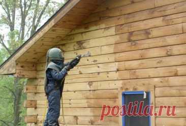 Пескоструйная обработка деревянных домов   Блог самостройщика   Пульс Mail.ru Пескоструйная обработка потемневших деревянных строений. Дерево приобретает текстуру как после брашировальной насадки.