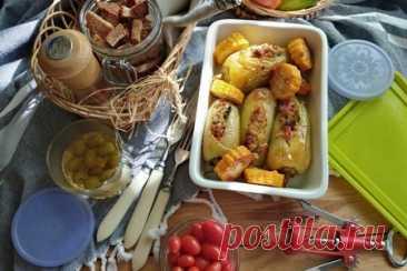Перцы, фаршированные необычным способом – пошаговый рецепт с фотографиями