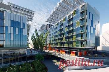 Первый в мире проект зданий с тройным уровнем энергоэффективности, раздвигает границы экологической архитектуры Первый в мире проект зданий с тройным уровнем энергоэффективности - комплекс Seventy-Six. Тройной нулевой показатель означает высочайшие стандарты достижения нулевого уровня отходов в трех категориях: энергия, вода и отходы. Этот отмеченный наградами проект, исследует новые границы в устойчивом развитии, уделяя внимание окружающей среде, затратам и социальным последствиям.