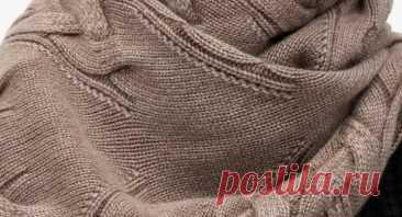 3 замечательных модели вязаных шарфов, которые хочется связать к этой зиме - описания и схемы | Вязалушка