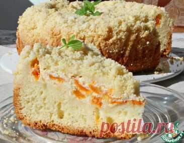 Пирог с абрикосами и штрейзелем – кулинарный рецепт
