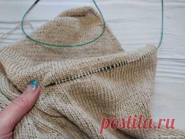 Как быстро и просто распустить вязаное изделие, при этом не потерять петли   Вязание спицами для начинающих