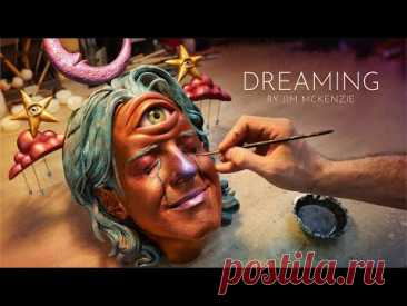 Dreaming - Self Portrait Sculpture by Jim McKenzie 2020