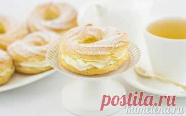 Заварные кольца с творожным кремом - пошаговый рецепт с фото