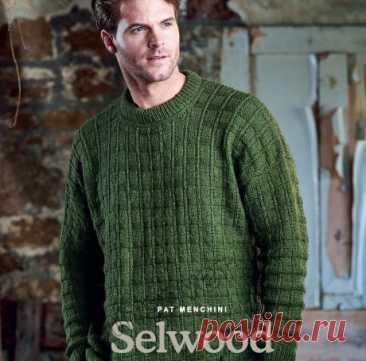 Мужской вязаный свитер SELWOOD, Вязание для мужчин спицами