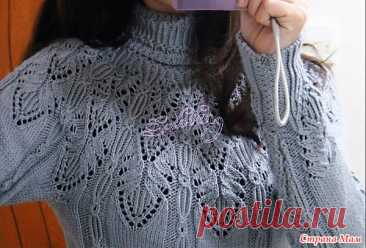 Pullover with the round coquette beautiful patterns. Spokes. - KNITTED FASHION + FOR NOT MODEL LADIES - the Country of Mothers
