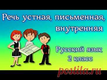 Речь устная, письменная, внутренняя Русский язык 2 класс