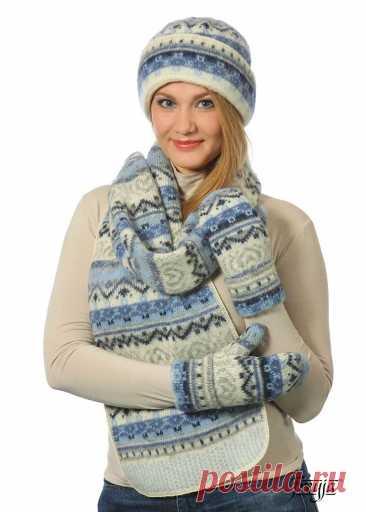 Купить • Набор с отворотом шарф шапка варежки • Интернет-магазин Набор с отворотом шарф шапка варежки • Теплый красивый комплект связанный из 100% исландской шерсти. Набор состоит из трёх предметов: зимней шапки, шарфа и варежек. Отличный выбор для суровых зим.