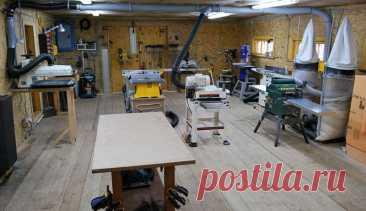 Небольшая столярка в гараже и как обустроить ее самостоятельно | stroimass.com Узнаем, как обустроить небольшую мастерскую в гараже и что нужно для оснащения рабочего места в столярке небольшого размера.