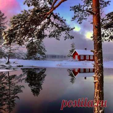 Photo shared by ВОКРУГ СВЕТА on January 15, 2021 tagging @bestemammatil7. May be an image of lake, nature, tree and sky.