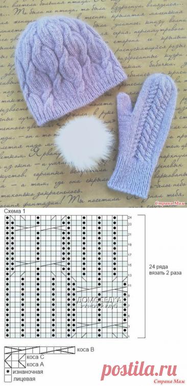 Еще три шапки с косами спицами на зиму | NataliyaK | Яндекс Дзен