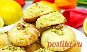 Лимонное печенье с фисташками | Рецепты на FooDee.top