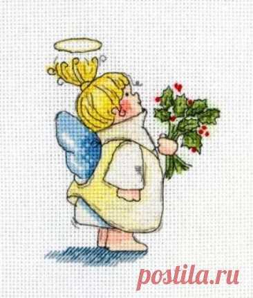 Маленький ангелочек- схема для вышивки крестом