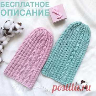 Симпатичная шапочка (Вязание спицами) — Журнал Вдохновение Рукодельницы