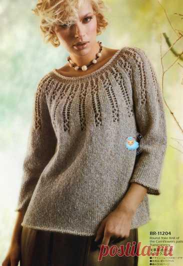 Хочется тепла, а в толстом свитере жарко. Смотрите идеи пуловеров из тонкой пряжи. | Вяжем, лепим, творим, малюем) | Яндекс Дзен