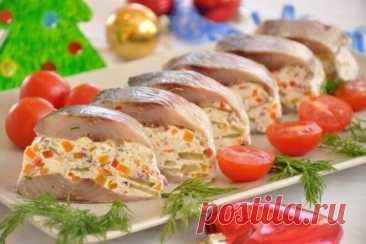 Фаршированная сельдь «Самоцветы» на закуску, рецепт с фото