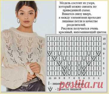 Два джемпера практически одинаковым ажурным узором. #knitting #вязание_спицами #джемпера_спицами #модное_вязание #вязание_для_женщин #ажурные_узоры_спицами