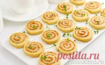 Печенье с колбасой и сыром - пошаговый рецепт с фото
