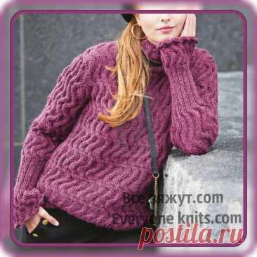"""Коль зима уж на пороге, то скажу вам без намёка: """"Пряжу надо покупать, тёплый свитерок вязать"""". 10 новых моделей.   Все вяжут.сом/Everyone knits.com   Яндекс Дзен"""