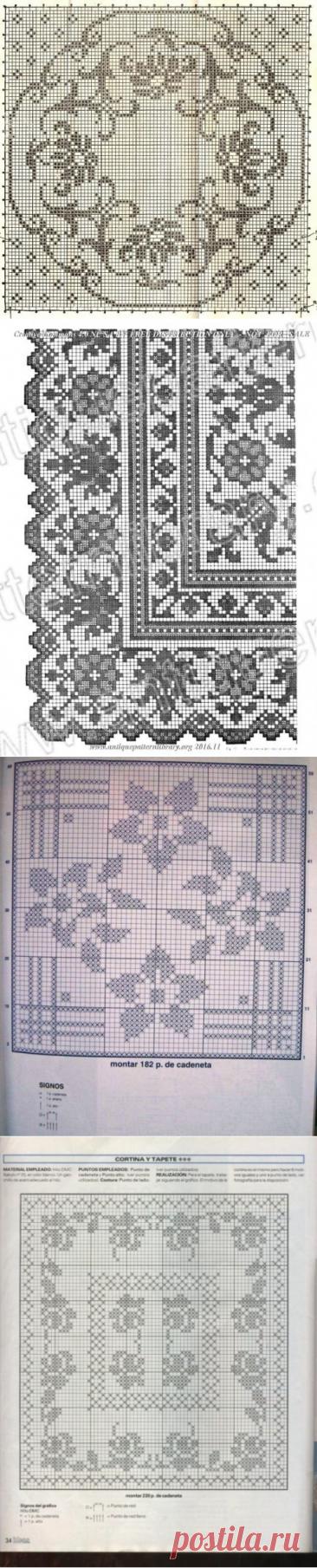 Филейные схемы для вязания крючком