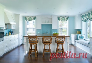 Варианты оформления кухни в голубом цвете — Pro ремонт
