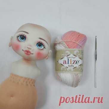 Делаем волосы из пряжи для куклы из ткани | Журнал Ярмарки Мастеров