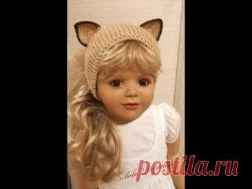Детская повязка-кошка