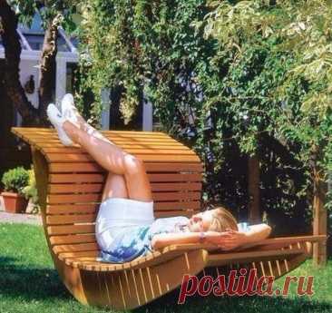 Кресло–качалка для сада своими руками