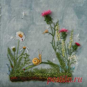 Стильная авторская вышивка Розы Андреевой | Создавай сам | Яндекс Дзен
