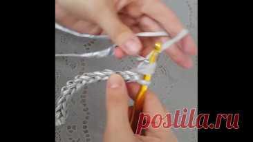 Вяжем шнур крючком.