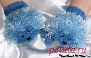 Варежки-мышки для детей. МК