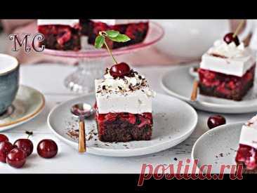 NAJLEPSZE Ciasto WIŚNIOWE z Kremem Jogurtowym – Przepis – Mała Cukierenka