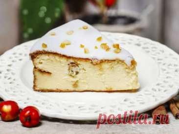Чизкейк с сыром рикотта и изюмом