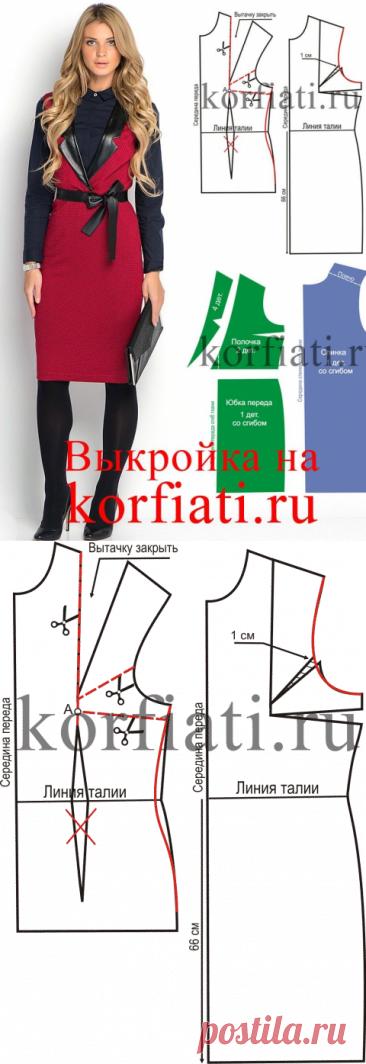 Зимний сарафан - выкройка от Анастасии Корфиати