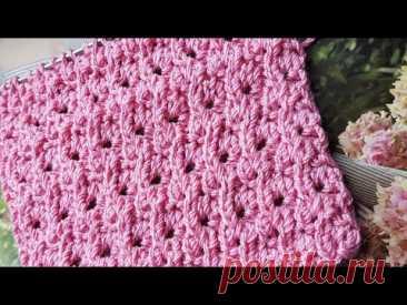 "Вяжем узор ""Гортензия в цветах""🌺 knitting pattern."