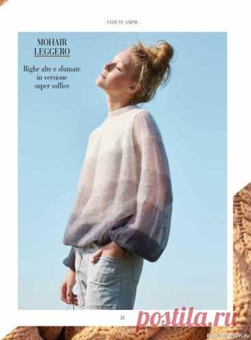 Схемы из журнала Piu Maglia №23 2021 | Вязание для женщин спицами. Схемы вязания спицами