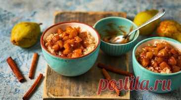 Рисовая каша с грушами в карамели, пошаговый рецепт с фото